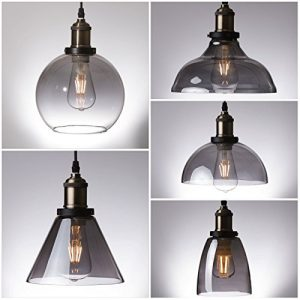 smoked pendant light
