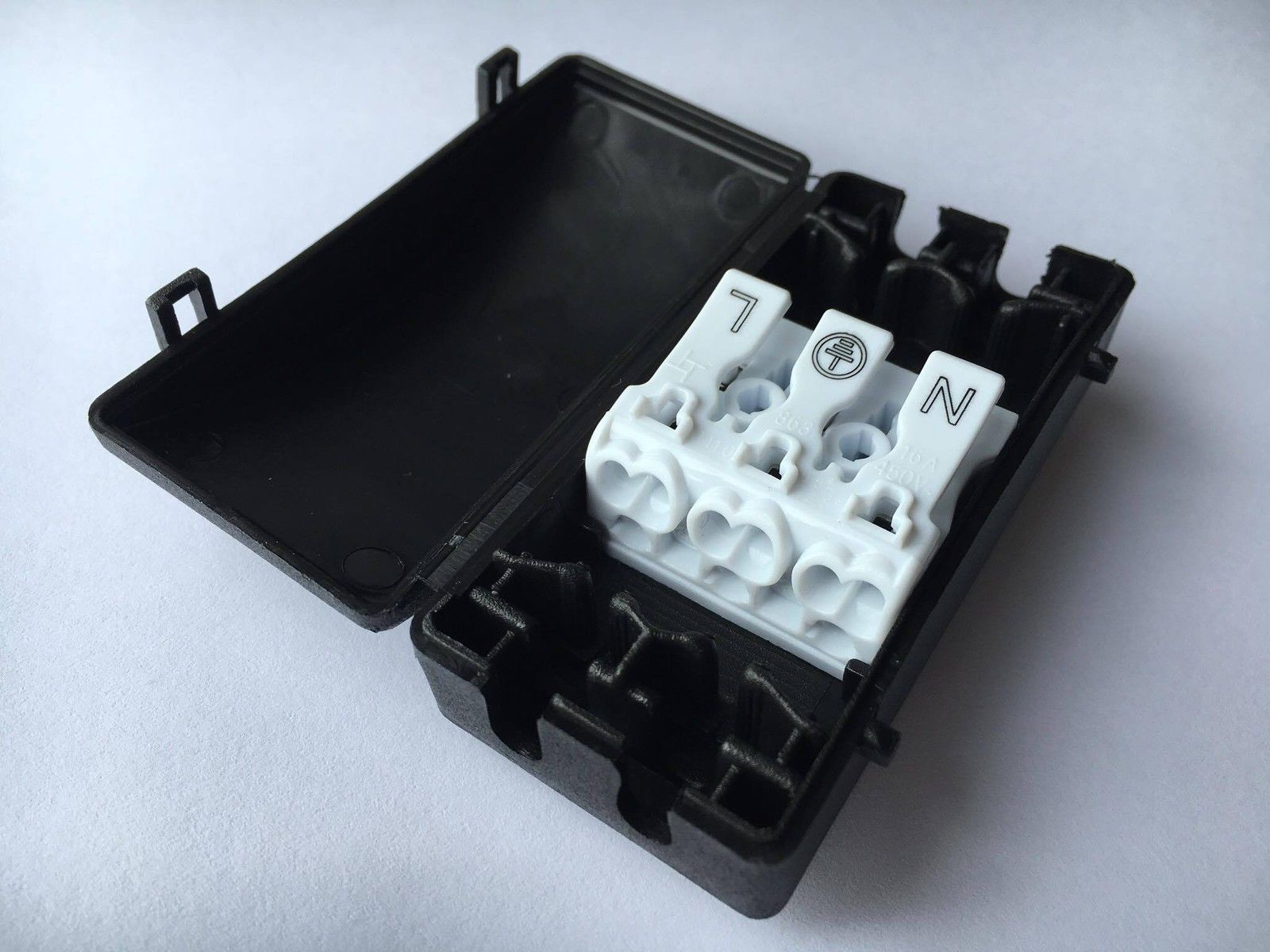 Cable Connector Terminal Block 3 Pole Myledshop Wiring Junction Box Push