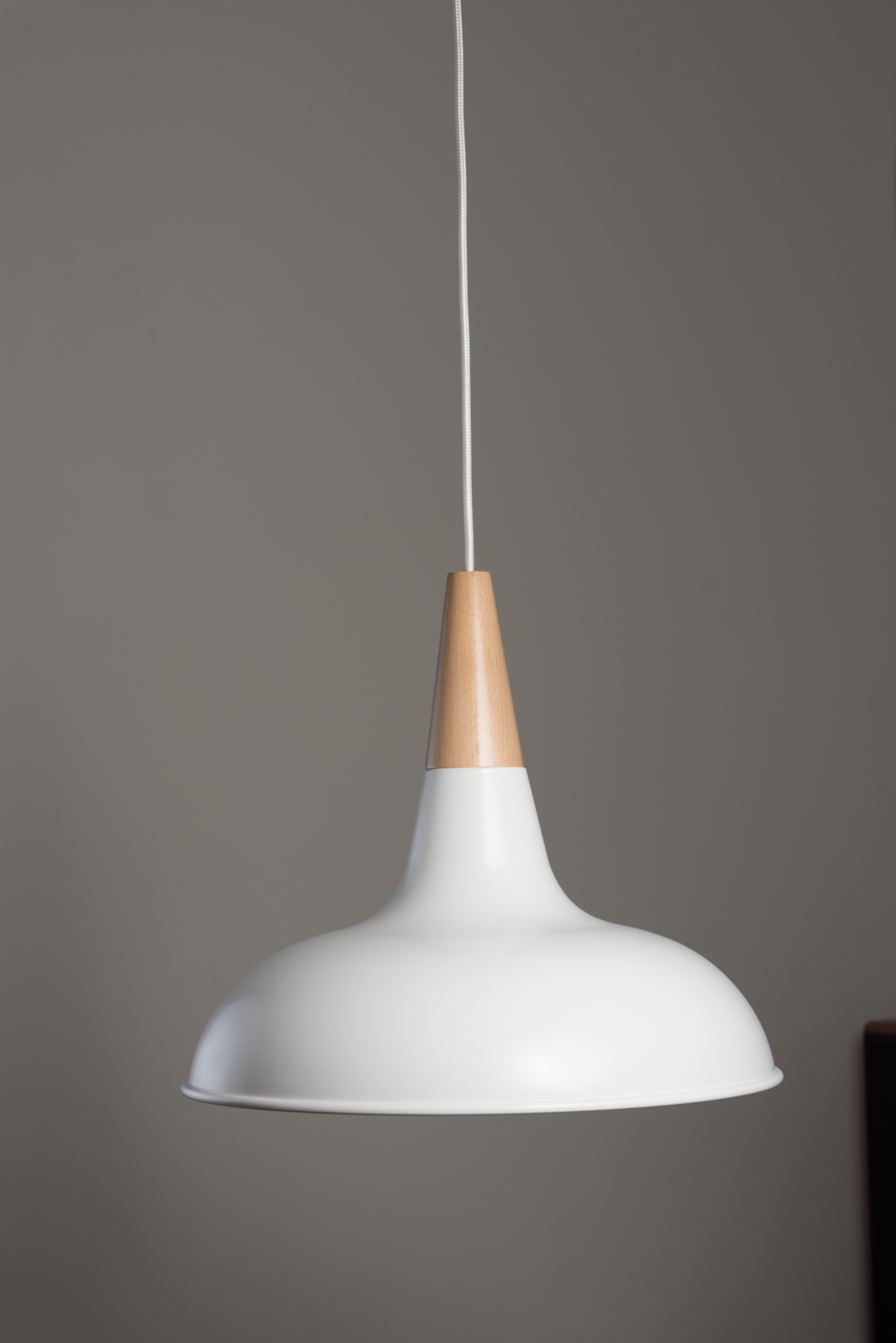 Modern White Copper Wood Pendant Light Kitchen Light Myledshop